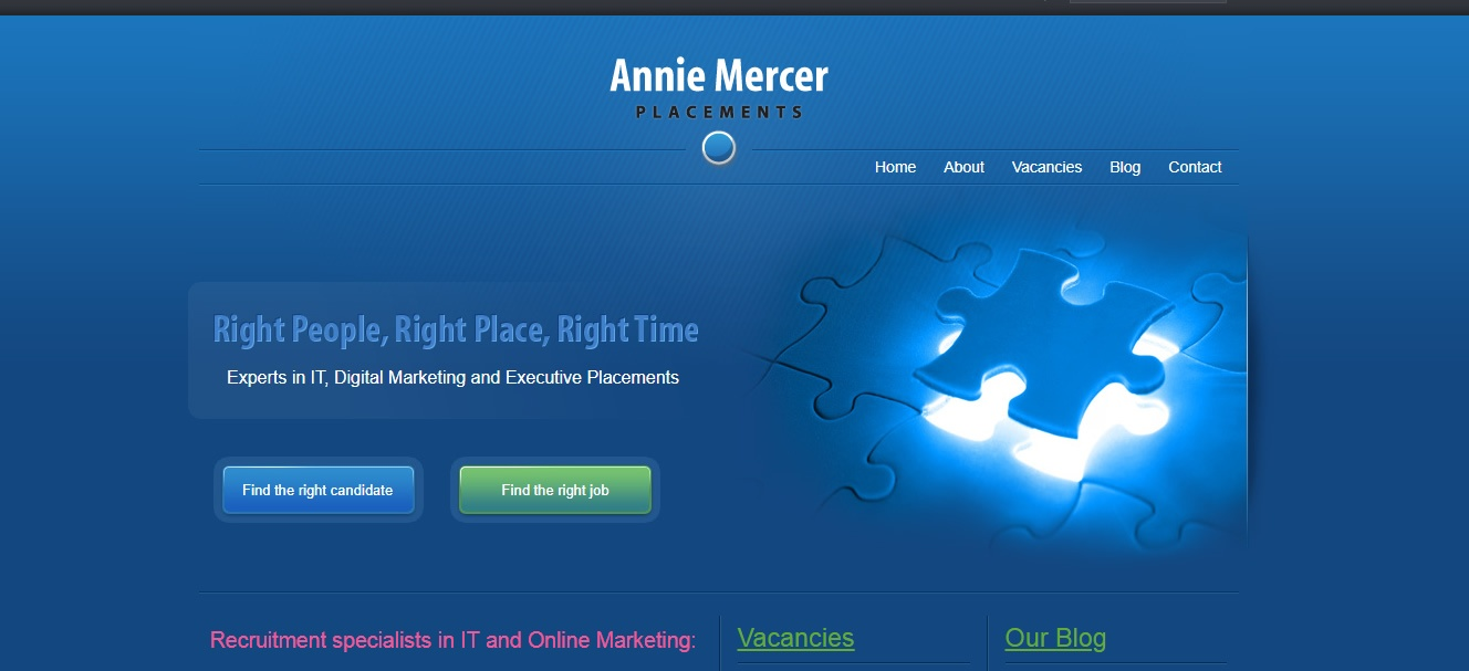 Website design - Annie Mercer - SEO - Web4Business