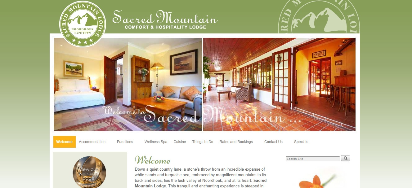 Website design - Sacred Mountain Lodge