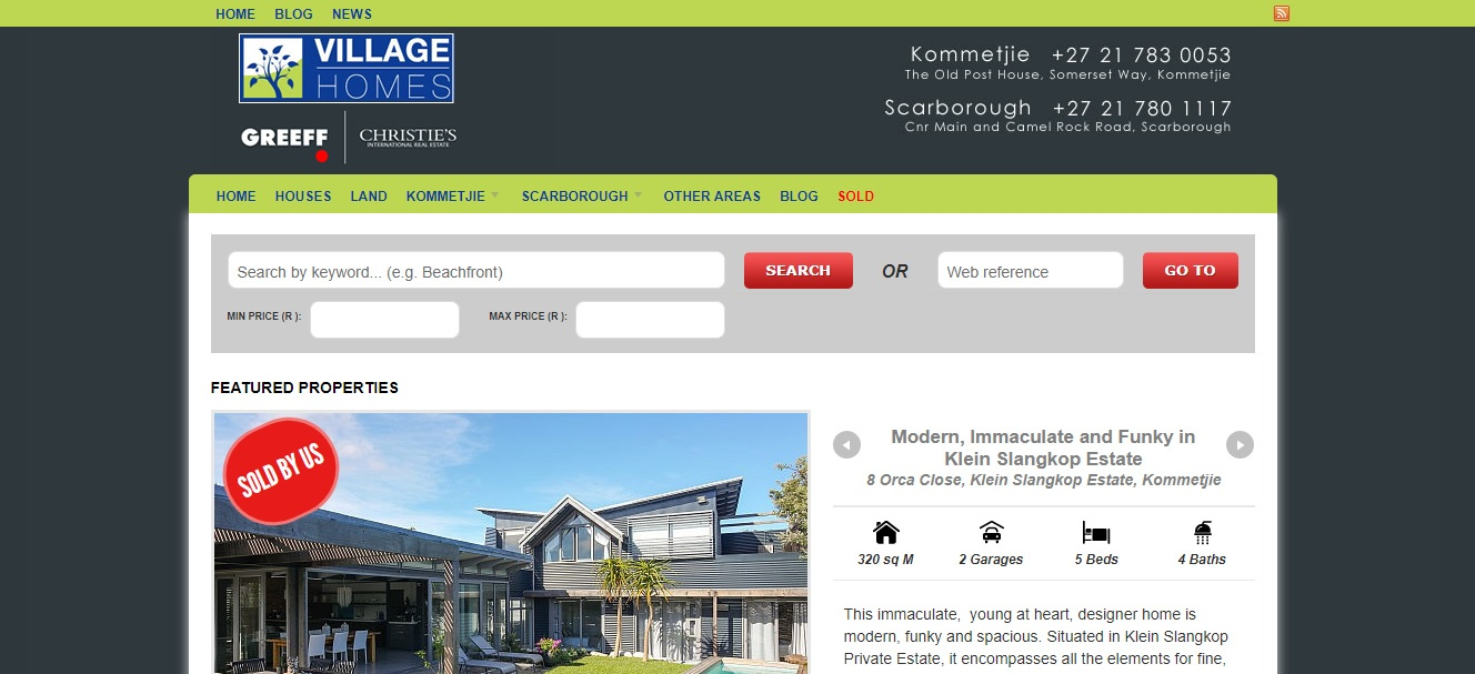 Website design - Village Homes - Web4Business - SEO
