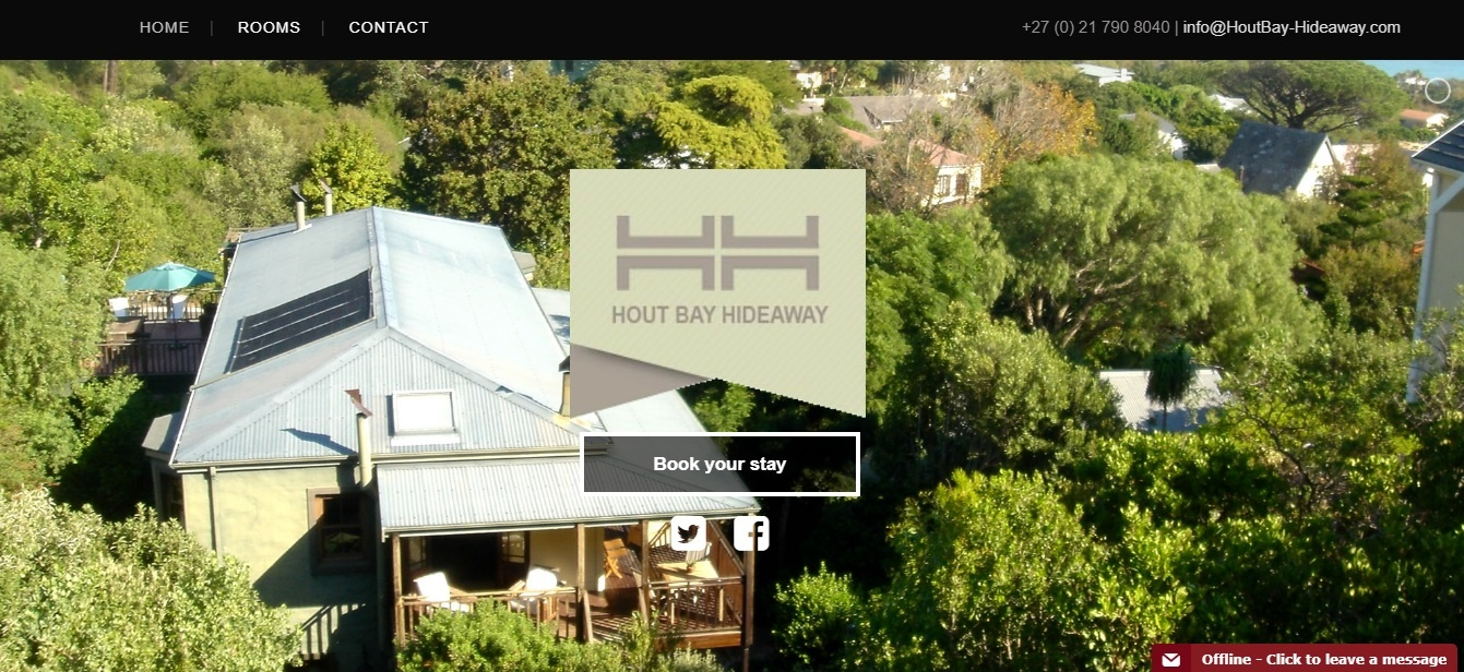 Website design - Hout Bay Hideaway - SEO - Web4Business